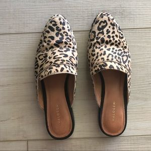 Halogen Leopard Print Mules